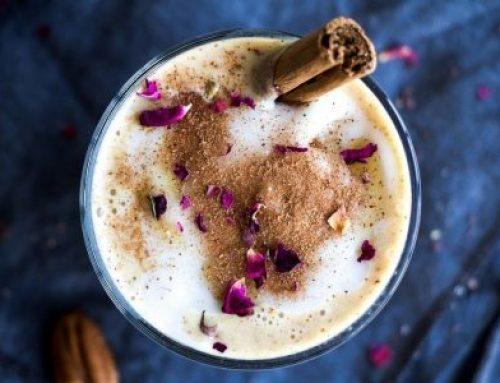 Vanilijev smoothie z bučnim pirejem